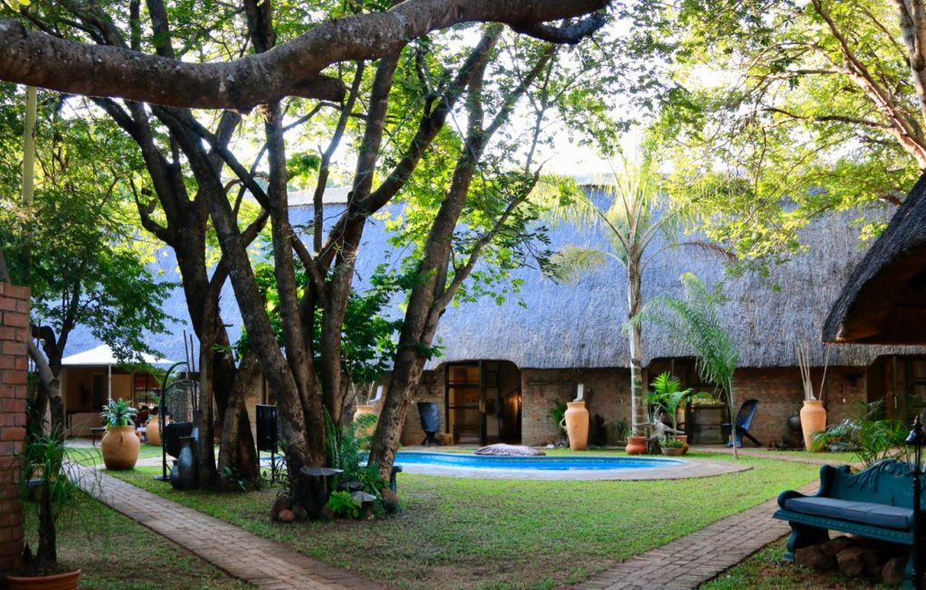 Garden and Pool, Nguni Lodge Victoria Falls