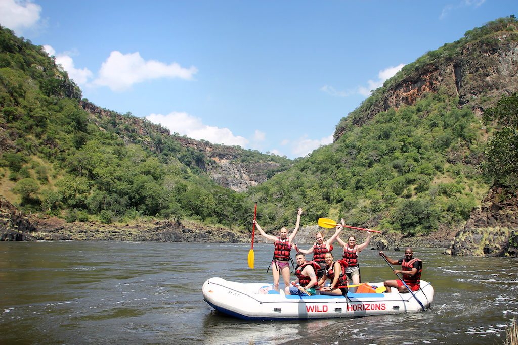 White Water Rafting on the Zambezi, Victoria Falls
